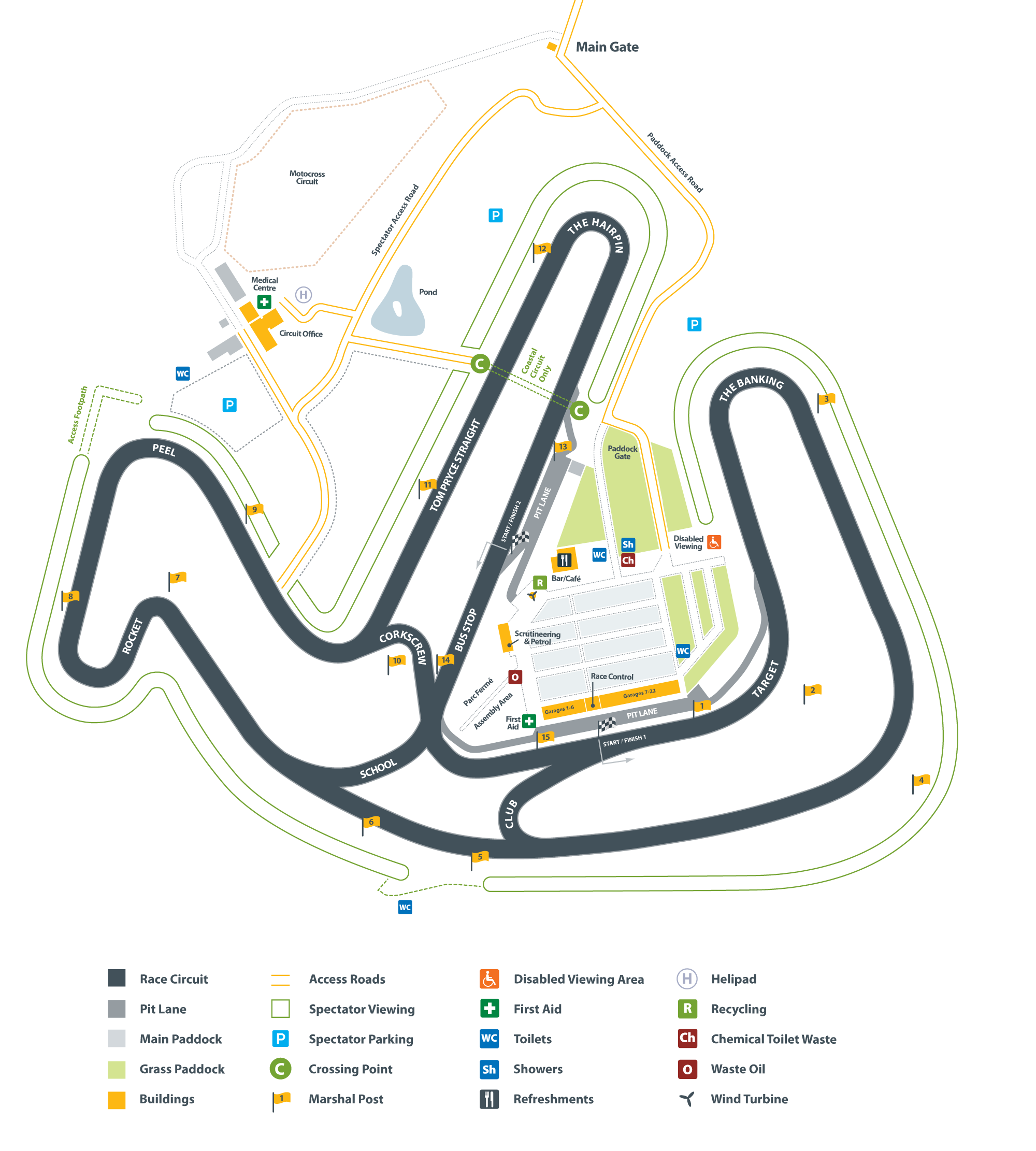 Circuit Map – Anglesey Circuit – Trac Môn